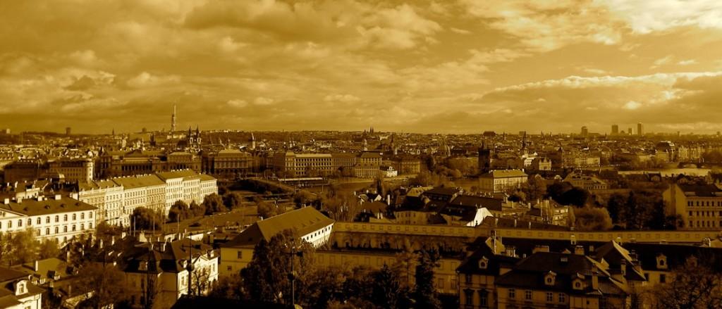 Vue de Prague depuis le château
